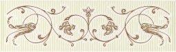 Бордюр Cracia Ceramica Анжер салатовый 01 25x7,5