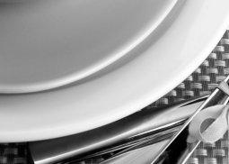Панно Береза-керамика Рондо сервиз 3 черный 25х35