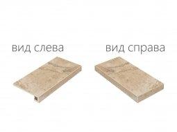 Ступень угловая правая Italon NL-Stone Алмонд 33x60 паттинированная