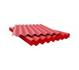 Шифер кровельный 8-волновой 1750х1130х5.8мм, красный