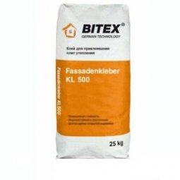 Клей Bitex Fassadenkleber KL 500 для плит утеплителя из пенополистерола и минеральной ваты 25 кг