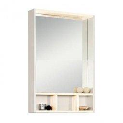 Шкаф-зеркало Aquaton Йорк 60 Белый/Выбеленное дерево