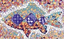 Декор Сокол Гауди D-696а орнамент глянцевый 33х20