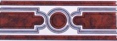 Бордюр Сокол Уральские самоцветы 342орнамент глянцевый 7х20