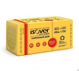 Минераловатный утеплитель Isover Каркасный Дом 1000х600х100 мм /4шт