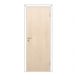Дверное полотно Olovi глухое Беленый Дуб 700х2000 с замком 2014