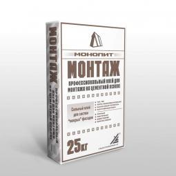 Клей Монолит Монтаж на цементной основе для гипсокартона, систем
